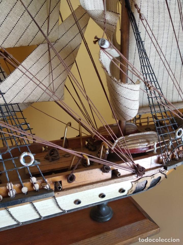 Antigüedades: Precioso barco en madera, echo íntegramente a mano, solo recogida - Foto 7 - 175189615