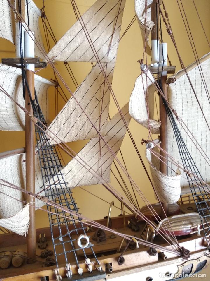 Antigüedades: Precioso barco en madera, echo íntegramente a mano, solo recogida - Foto 8 - 175189615
