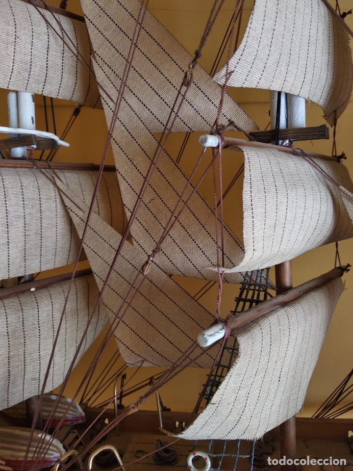Antigüedades: Precioso barco en madera, echo íntegramente a mano, solo recogida - Foto 9 - 175189615