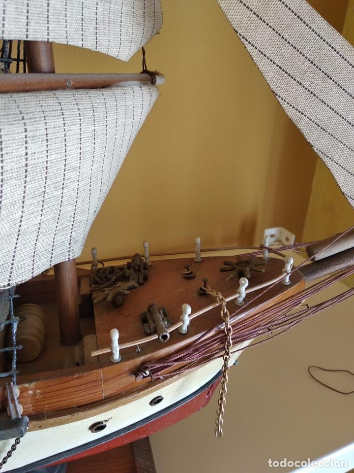 Antigüedades: Precioso barco en madera, echo íntegramente a mano, solo recogida - Foto 11 - 175189615