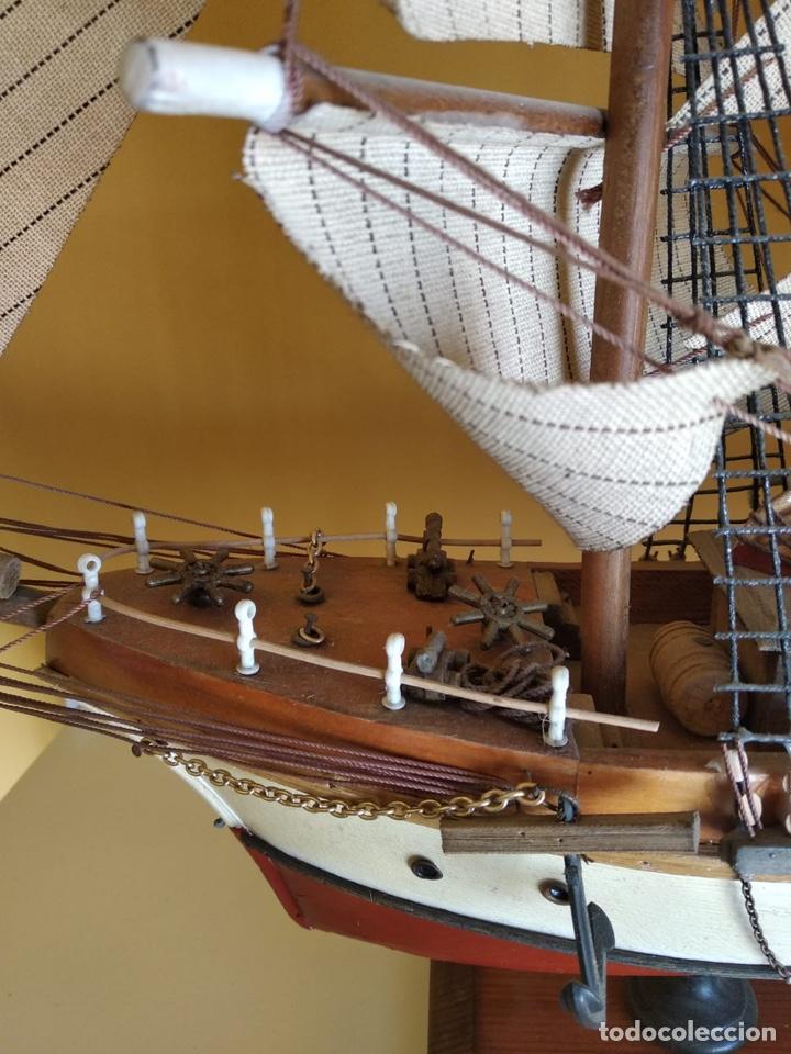 Antigüedades: Precioso barco en madera, echo íntegramente a mano, solo recogida - Foto 12 - 175189615