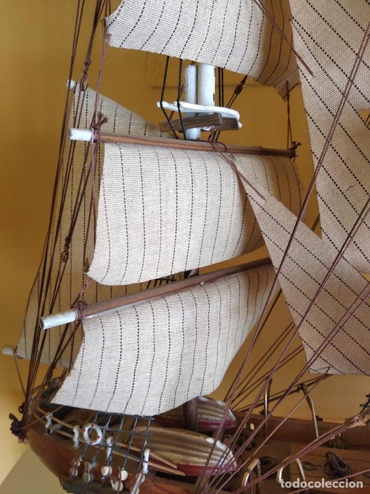 Antigüedades: Precioso barco en madera, echo íntegramente a mano, solo recogida - Foto 13 - 175189615