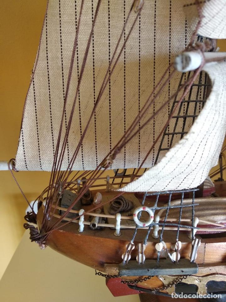 Antigüedades: Precioso barco en madera, echo íntegramente a mano, solo recogida - Foto 14 - 175189615