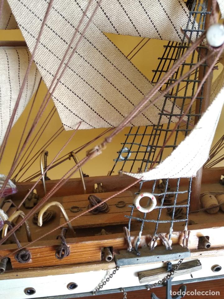 Antigüedades: Precioso barco en madera, echo íntegramente a mano, solo recogida - Foto 15 - 175189615