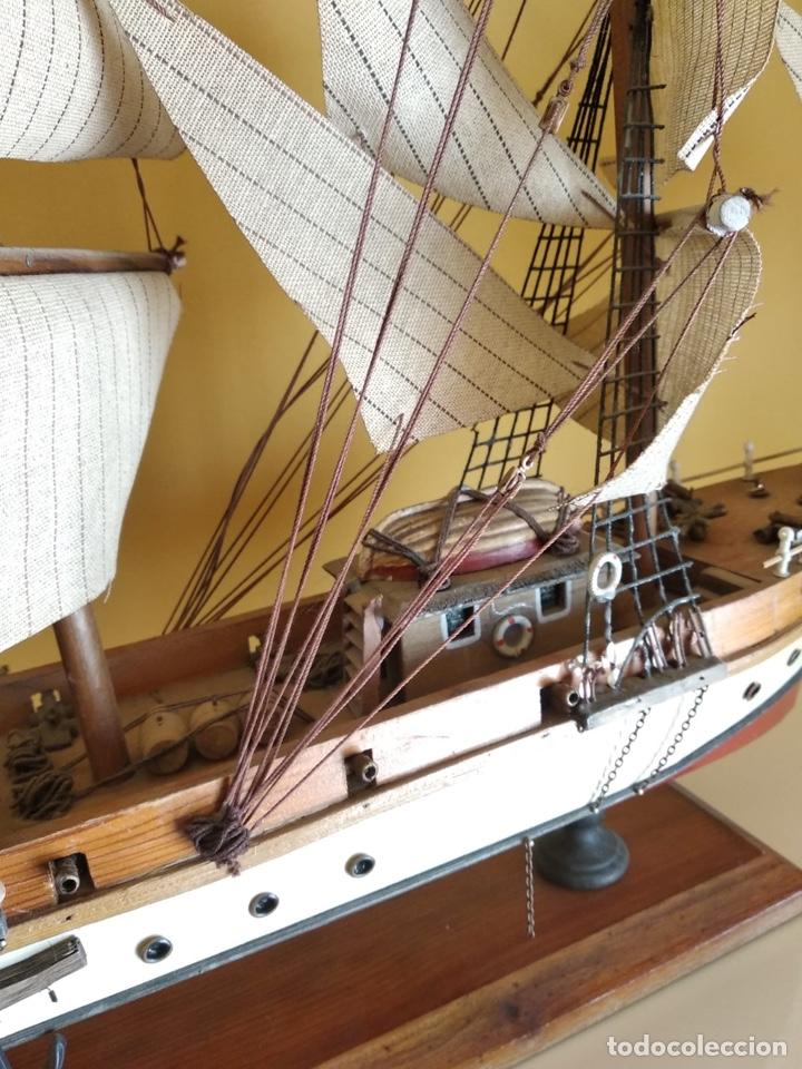 Antigüedades: Precioso barco en madera, echo íntegramente a mano, solo recogida - Foto 16 - 175189615