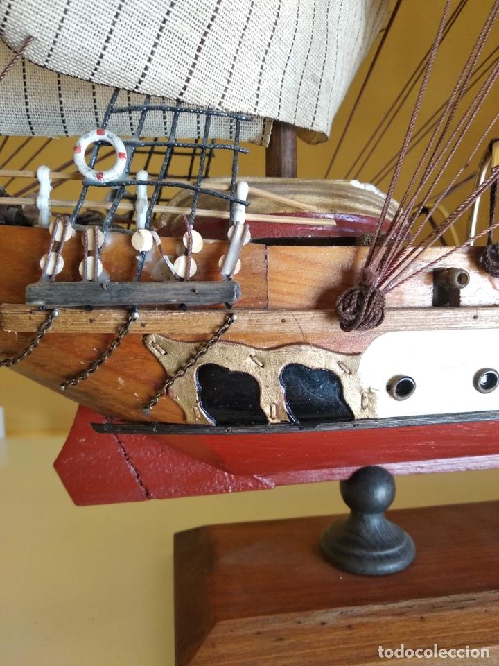 Antigüedades: Precioso barco en madera, echo íntegramente a mano, solo recogida - Foto 17 - 175189615