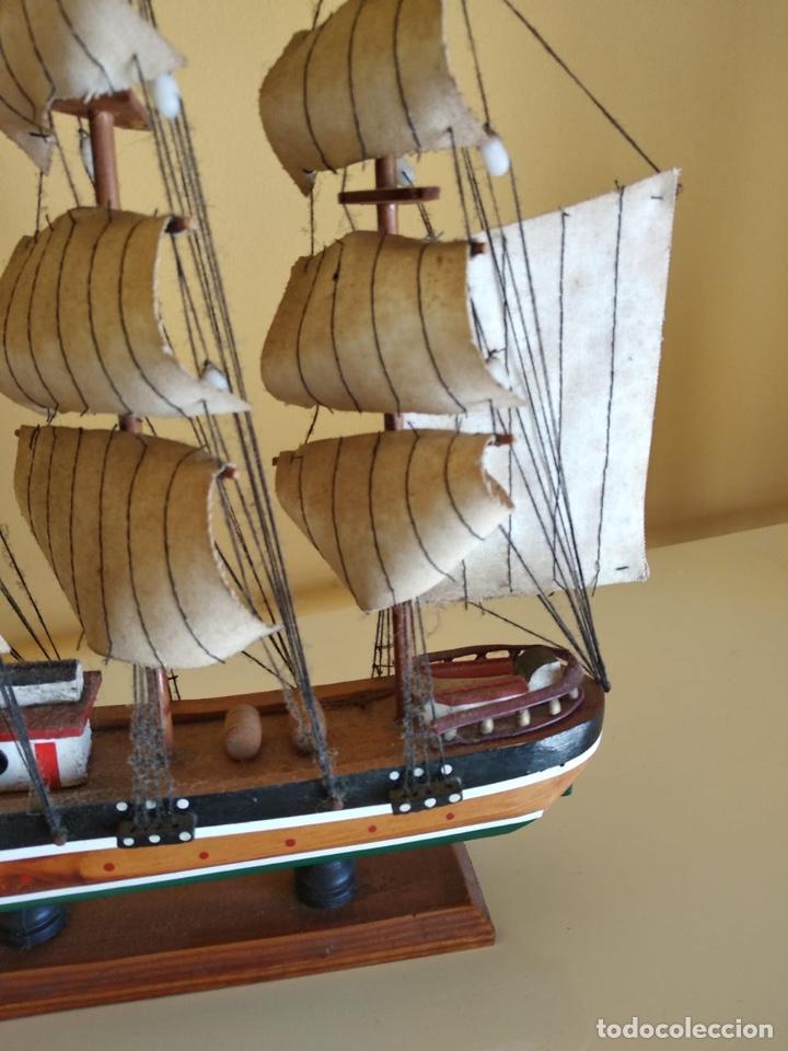 Antigüedades: Precioso barco en madera, echo íntegramente a mano - Foto 2 - 175193405