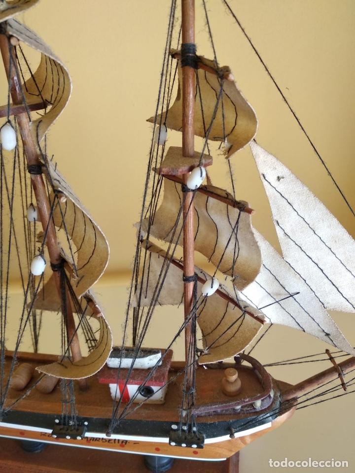 Antigüedades: Precioso barco en madera, echo íntegramente a mano - Foto 3 - 175193405