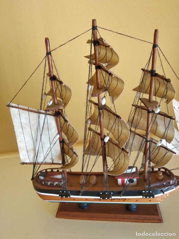 Antigüedades: Precioso barco en madera, echo íntegramente a mano - Foto 4 - 175193405