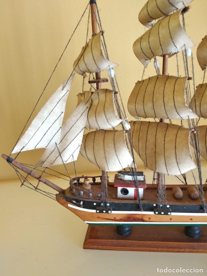 Antigüedades: Precioso barco en madera, echo íntegramente a mano - Foto 5 - 175193405