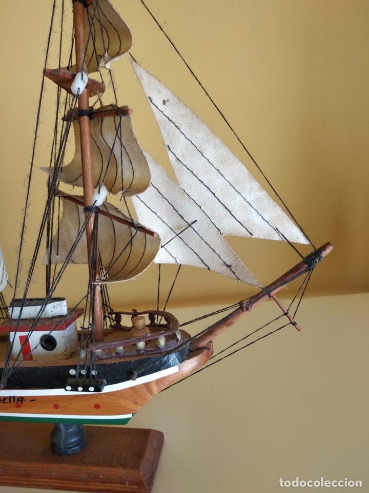 Antigüedades: Precioso barco en madera, echo íntegramente a mano - Foto 6 - 175193405