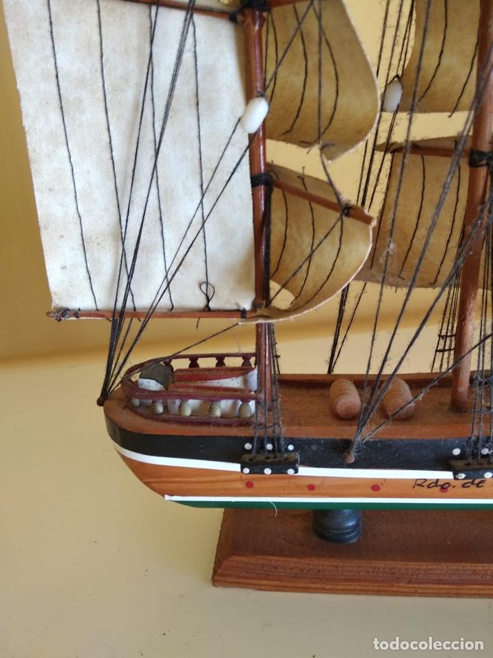 Antigüedades: Precioso barco en madera, echo íntegramente a mano - Foto 7 - 175193405