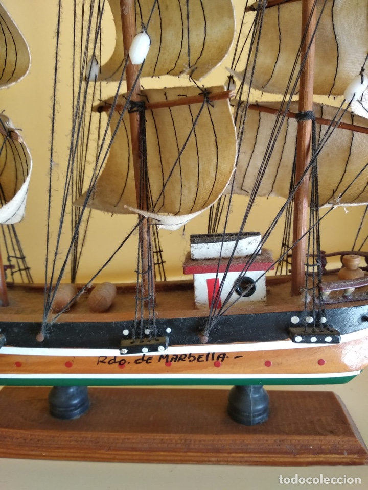 Antigüedades: Precioso barco en madera, echo íntegramente a mano - Foto 8 - 175193405