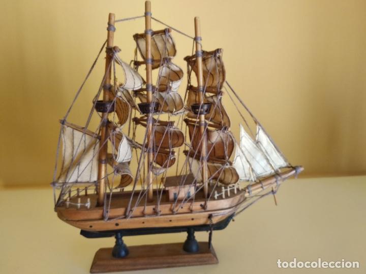 Antigüedades: Precioso barco en madera, echo íntegramente a mano - Foto 2 - 175193588