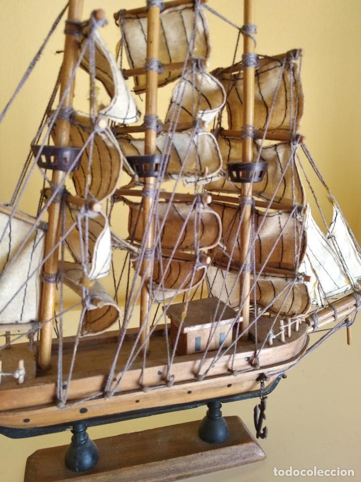 Antigüedades: Precioso barco en madera, echo íntegramente a mano - Foto 3 - 175193588