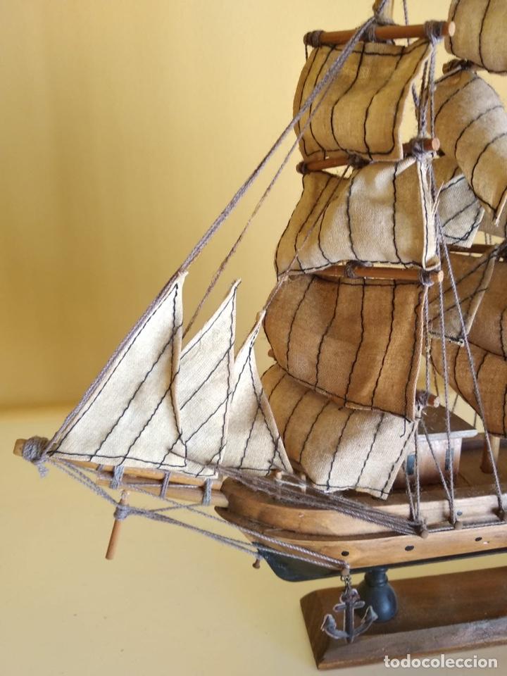 Antigüedades: Precioso barco en madera, echo íntegramente a mano - Foto 4 - 175193588