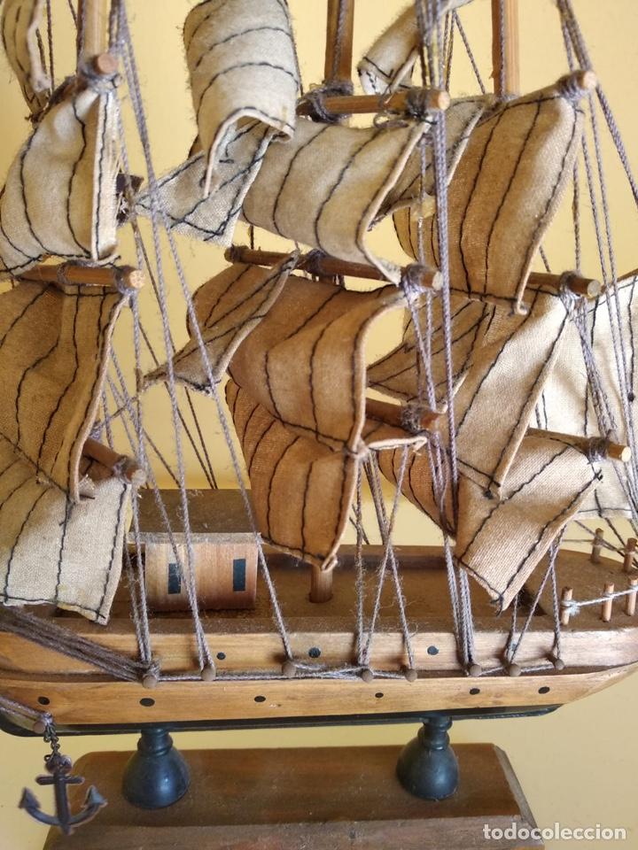Antigüedades: Precioso barco en madera, echo íntegramente a mano - Foto 5 - 175193588