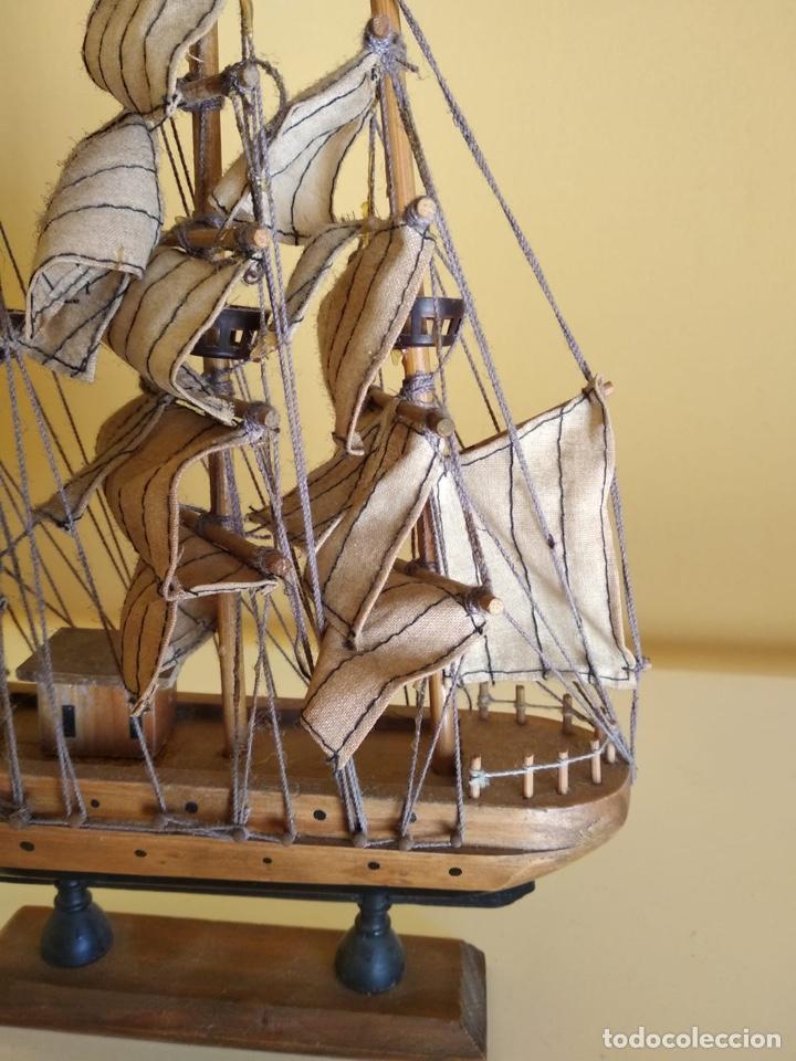 Antigüedades: Precioso barco en madera, echo íntegramente a mano - Foto 6 - 175193588
