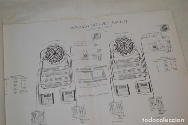 Teléfonos: 24 láminas, siglo pasado, esquemas TELEGRAFÍA, RADIOTELEGRAFÍA y TELEFONÍA ¡Observa fotos/detalles! - Foto 2 - 175285277