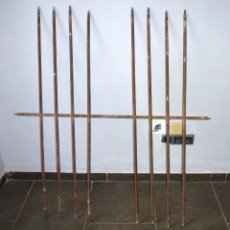 Antigüedades: ANTIGUA REJA DE VENTANA.HIERRO FORJADO CON BARROTES PASANTES. Lote 175304433