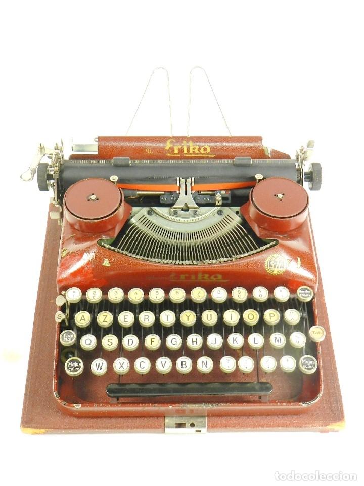 MAQUINA DE ESCRIBIR ERIKA ROJA MOD. 5 AÑO 1931 TYPEWRITER SCHREIBMASCHINE (Antigüedades - Técnicas - Máquinas de Escribir Antiguas - Erika)