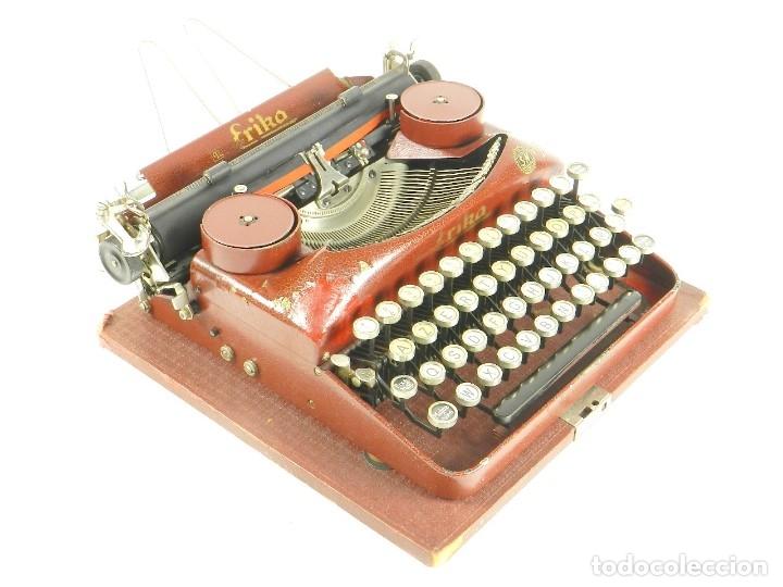 Antigüedades: MAQUINA DE ESCRIBIR ERIKA ROJA Mod. 5 AÑO 1931 TYPEWRITER SCHREIBMASCHINE - Foto 6 - 175327550