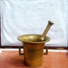Antigüedades: ALMÍREZ FARMACIA S.XIX BRONCE. 2 ASAS. Lote 175408167