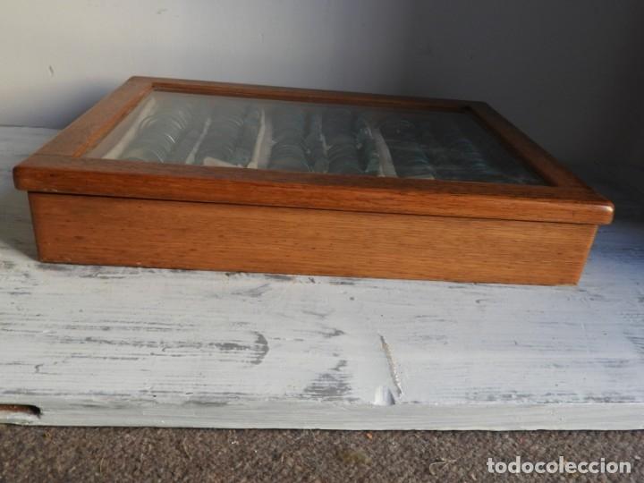 Antigüedades: CAJA ANTIGUA CON LENTES DE OPTICA PARA REGULAR LA VISION - Foto 10 - 175445244