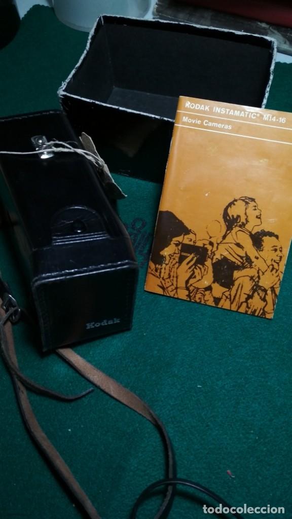 KODAK INSTAMATIC M14 CON INSTRUCCIONES, FUNDA Y PARTE DE LA CAJA VER FOTOS Y LEER DESCRIPCION (Antigüedades - Técnicas - Aparatos de Cine Antiguo - Cámaras de Super 8 mm Antiguas)