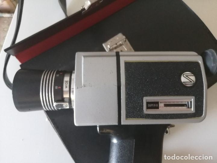 Antigüedades: TOMAVISTAS SÚPER 8 SOUND LOADMATIC MP 303, LENTE SHINKOR 33mm, Y ESTUCHE. SIN PROBAR - Foto 3 - 175462848