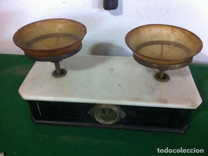 Antigüedades: BONITA BALANZA NAPOLEONICA TABAQUERA CON FUERZA 500 G SIGLO XIX - Foto 2 - 175411952