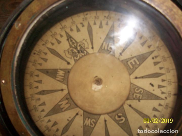 Antigüedades: ANTIGUA BRUJULA DE BARCO DE BRONCE - Foto 2 - 175466558