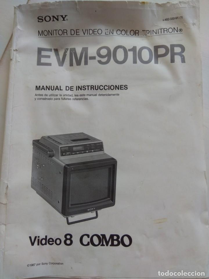 Antigüedades: Reproductor Sony Combo Video 8 Triniton EVM-9010PR - Foto 17 - 173516650
