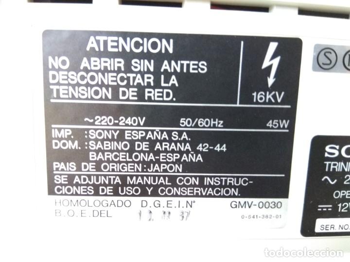 Antigüedades: Reproductor Sony Combo Video 8 Triniton EVM-9010PR - Foto 21 - 173516650