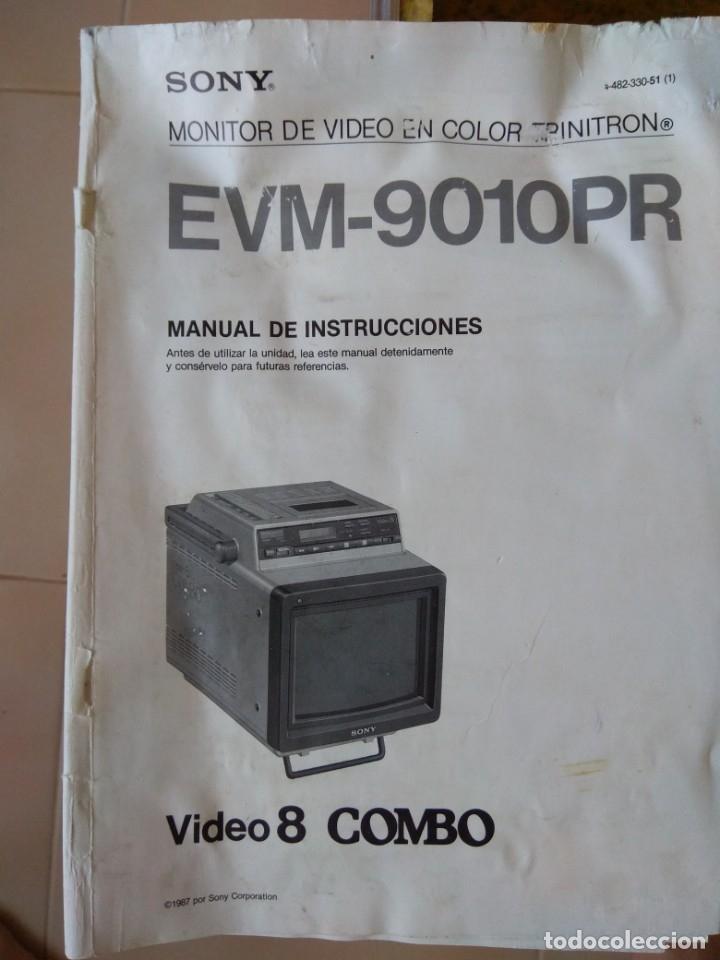 Antigüedades: Reproductor Sony Combo Video 8 Triniton EVM-9010PR - Foto 33 - 173516650