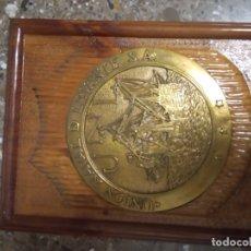 Antigüedades: UNION NAVAL DE LEVANTE. PLACA DE BRONCE. . Lote 175650170