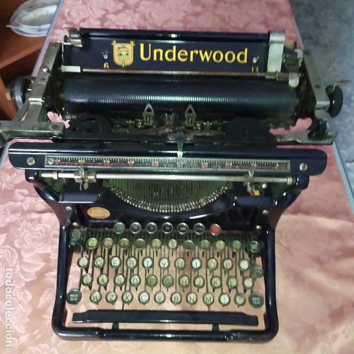 MAQUINA ESCRIBIR ANTIGUA (Antigüedades - Técnicas - Máquinas de Escribir Antiguas - Underwood)