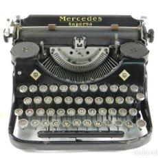Antigüedades: MAQUINA DE ESCRIBIR MERCEDES SUPERBA AÑO 1936 TYPEWRITER SCHREIBSMASCHINE. Lote 175837299