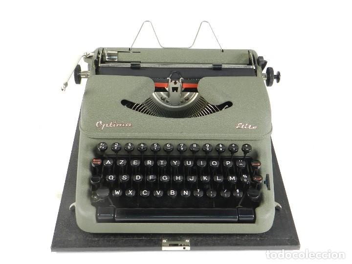 MAQUINA DE ESCRIBIR OPTIMA ELITE AÑO 1946 TYPEWRITER SCHREIBSMASCHINE (Antigüedades - Técnicas - Máquinas de Escribir Antiguas - Mercedes)