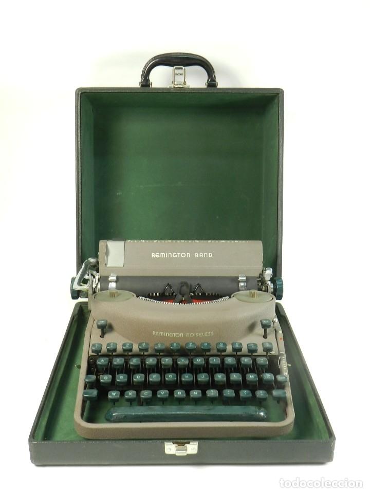 MAQUINA DE ESCRIBIR REMINGTON RAND NOISELESS 7 AÑO 1 TYPEWRITER SCHREIBSMASCHINE (Antigüedades - Técnicas - Máquinas de Escribir Antiguas - Mercedes)