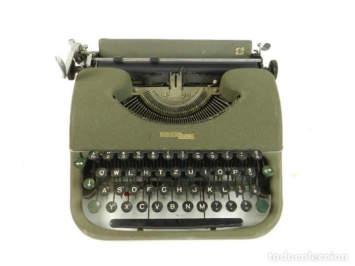 MAQUINA DE ESCRIBIR SWISSA PICCOLA AÑO 1950 SCHREIBSMASCHINE (Antigüedades - Técnicas - Máquinas de Escribir Antiguas - Mercedes)