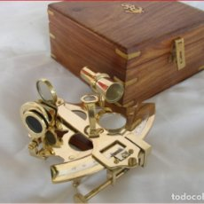 Antigüedades: SEXTANTE, . ASTROLABIO CAJA MADERA 18X18X11. Lote 210053720