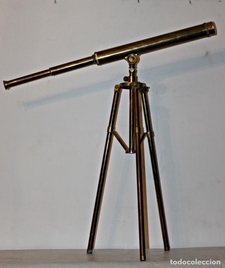 CATALEJO DE BARCO (1) - LATÓN - SEGUNDA MITAD DEL SIGLO XX (Antigüedades - Técnicas - Instrumentos Ópticos - Catalejos Antiguos)