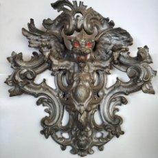 Antigüedades: ANTIGUO Y EXTRAORDINARIO ALDABON CON FIGURA DE DRAGON, PICAPORTE, LLAMADOR, ALDABA. Lote 175969327
