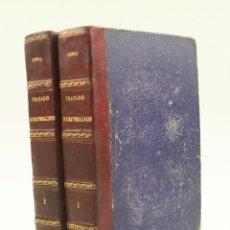 Antigüedades: TRATADO DE NAVEGACIÓN, JOSEF DE MENDOZA Y RIOS, 1787, 2 TOMOS, IMPRENTA REAL, MADRID. 22X15,5CM. Lote 175976552