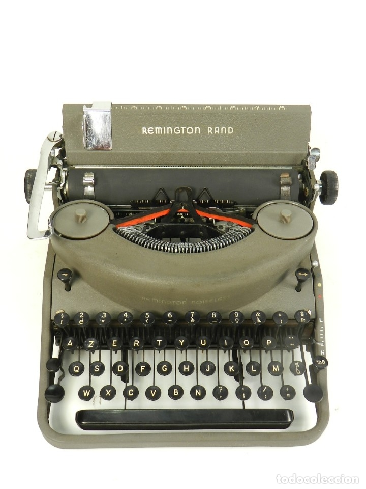 MAQUINA DE ESCRIBIR REMINGTON RAND NOISELESS 7 AÑO 1947 TYPEWRITER SCHREIBSMASCHINE (Antigüedades - Técnicas - Máquinas de Escribir Antiguas - Remington)