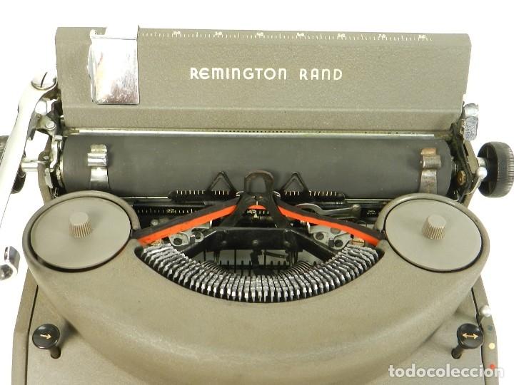 Antigüedades: MAQUINA DE ESCRIBIR REMINGTON RAND NOISELESS 7 AÑO 1947 TYPEWRITER SCHREIBSMASCHINE - Foto 6 - 175976657