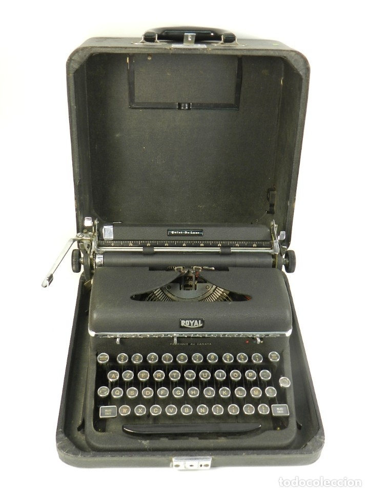 Antigüedades: MAQUINA DE ESCRIBIR ROYAL QUIET DE LUXE AÑO 1945 TYPEWRITER SCHREIBSMASCHINE - Foto 3 - 175976923