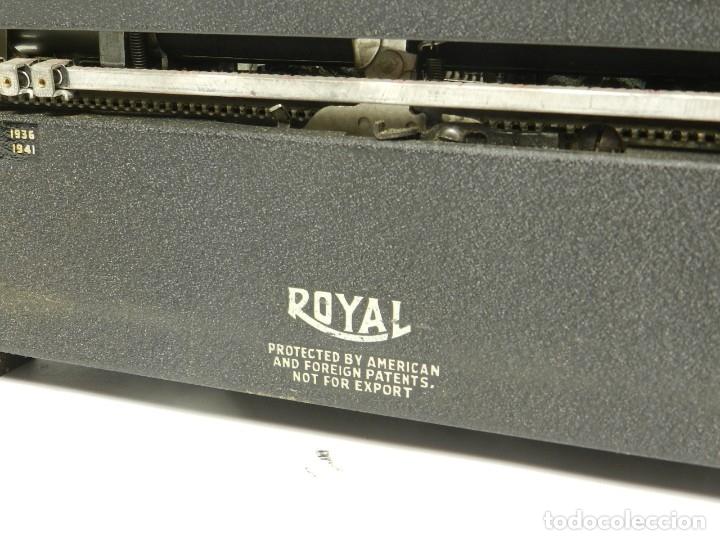 Antigüedades: MAQUINA DE ESCRIBIR ROYAL QUIET DE LUXE AÑO 1945 TYPEWRITER SCHREIBSMASCHINE - Foto 10 - 175976923