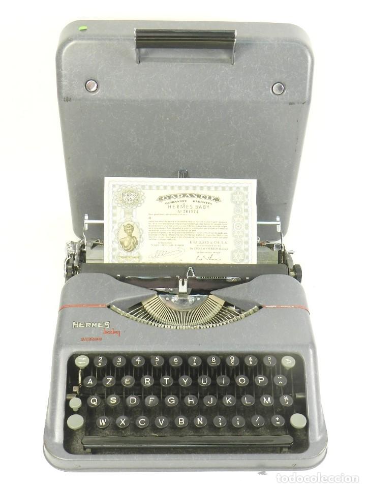 MAQUINA DE ESCRIBIR HERMES BABY AÑO 1942 TYPEWRITER SCHREIBSMASCHINE (Antigüedades - Técnicas - Máquinas de Escribir Antiguas - Hermes)